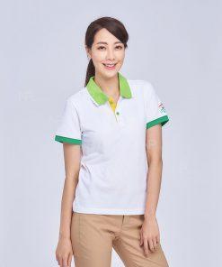 Ao Thun Dong Phuc Mau Trang Phoi Vien Xanh (2)