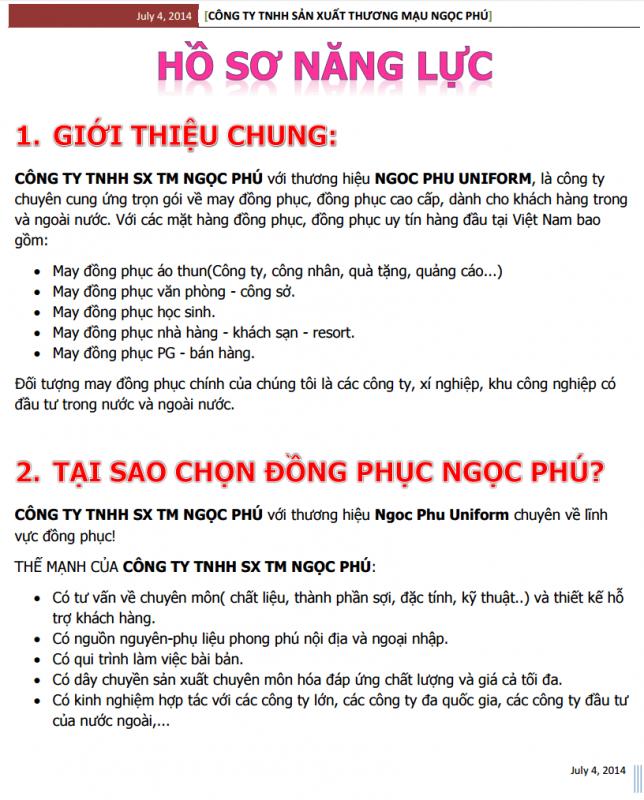 Ho So Nang Luc 1
